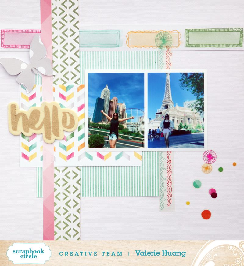 Scrapbook circle Valerie Huang May kit Hello