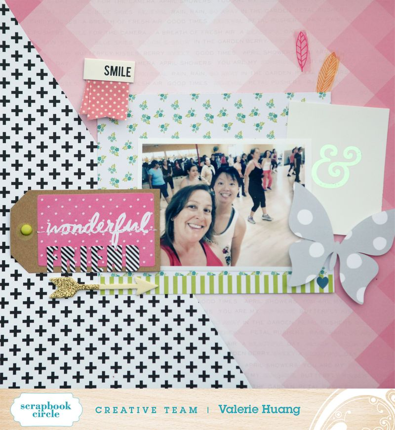 Scrapbook circle Valerie Huang May kit Wonderful Freind
