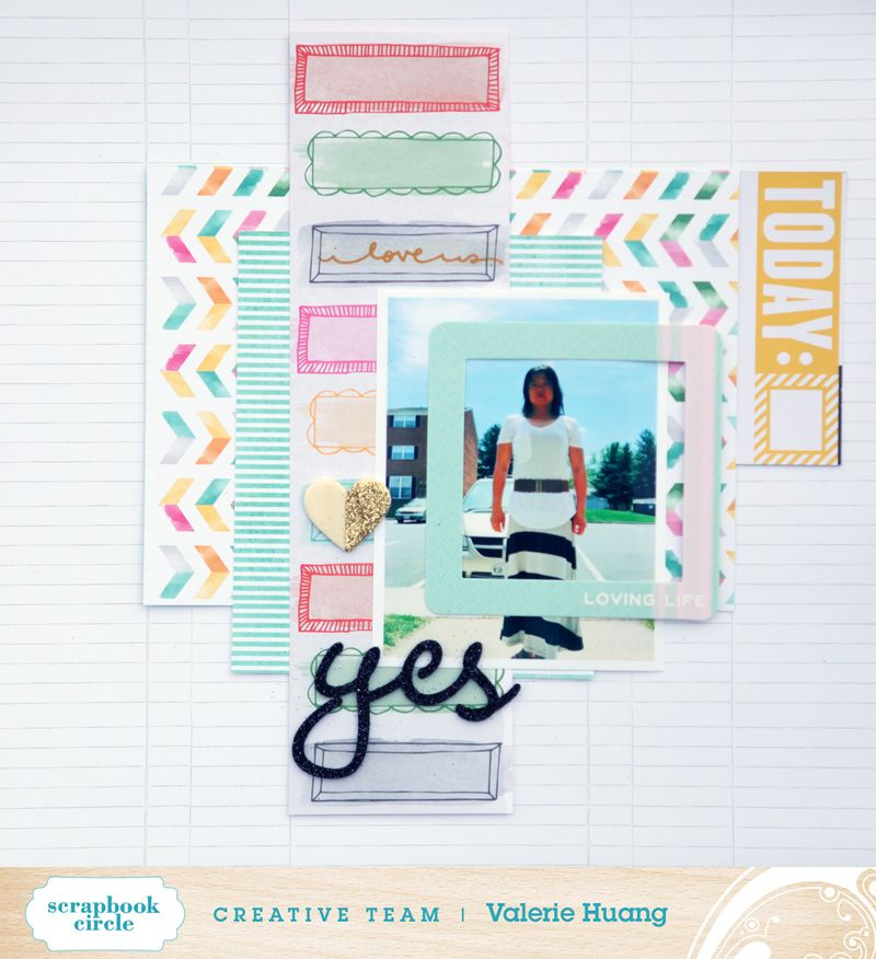Scrapbook circle Valerie Huang May kit Yes